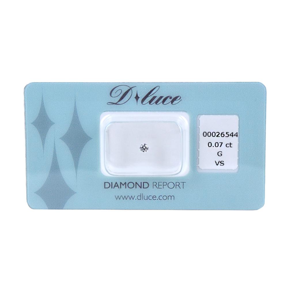 Diamante in blister Dluce carati 0.07 G VS con certificato