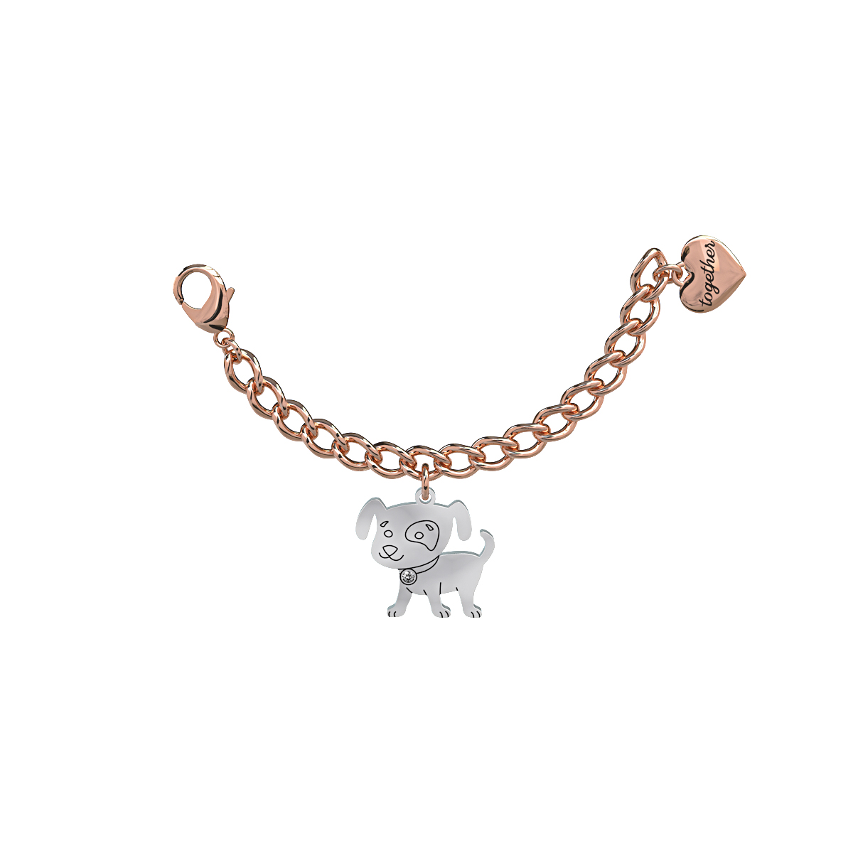 Elemento Single Bracciale 2jewels donna Together componibile Cane 131010