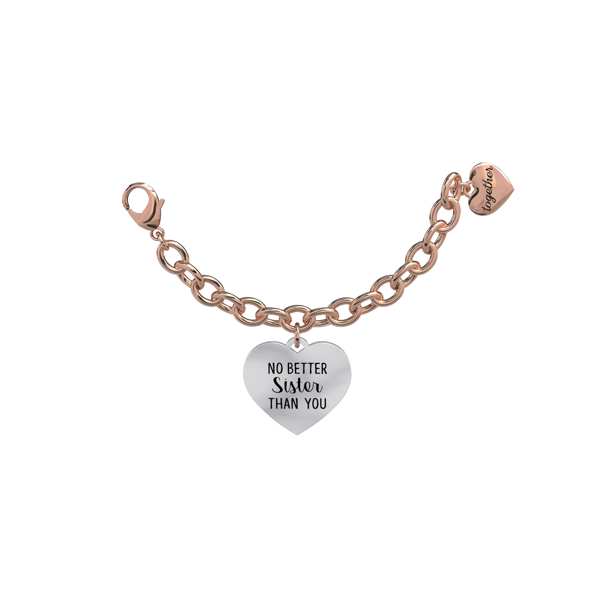 Elemento Single Bracciale 2jewels donna Together componibile cuore 131042