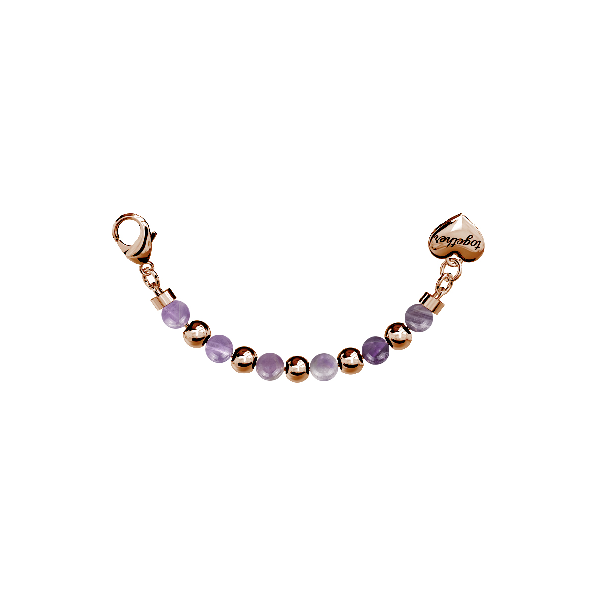 Elemento Single Bracciale 2jewels donna Together componibile ametista 131113