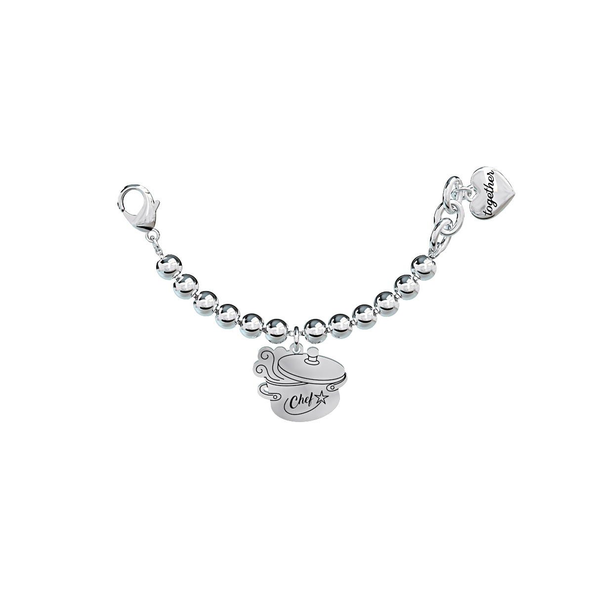Elemento Single Bracciale 2jewels donna Together componibile Chef 131079