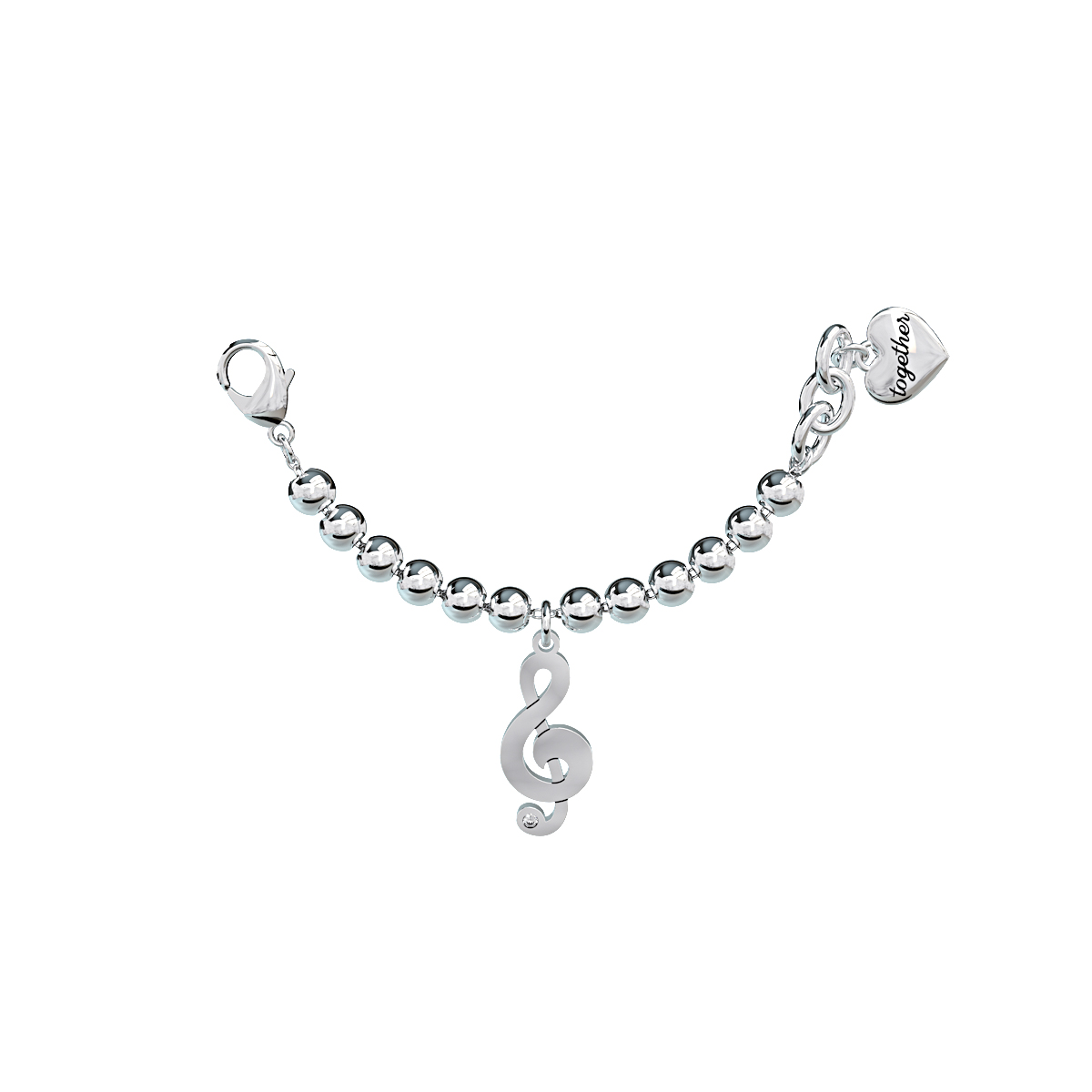 Elemento Single Bracciale 2jewels donna Together componibile Chiave di violino 131076