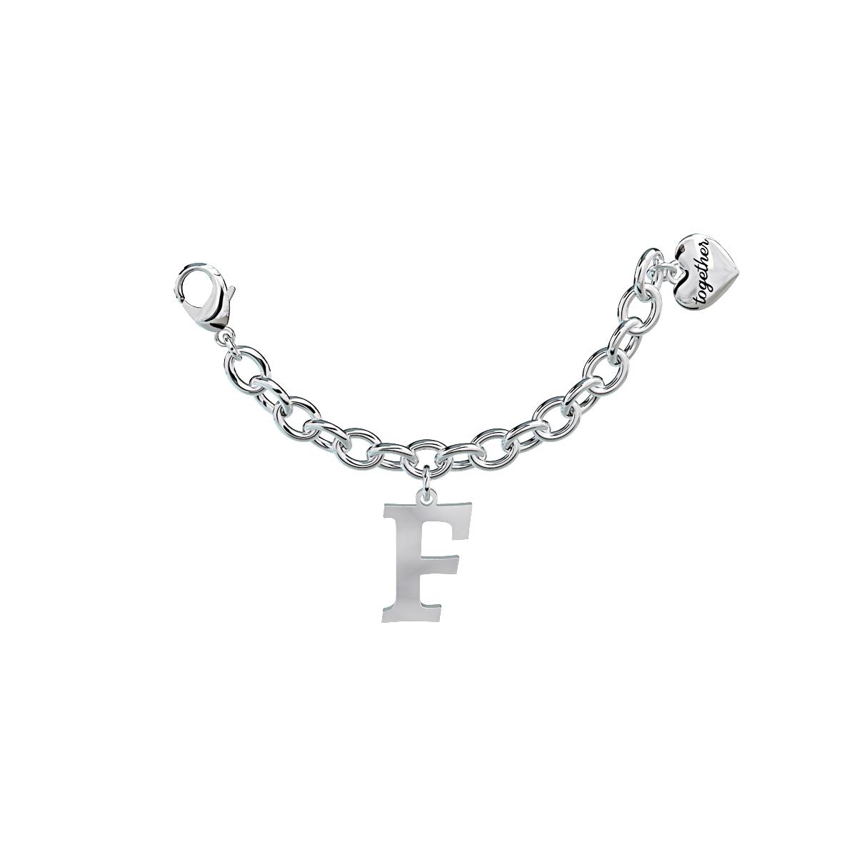 Elemento Single Bracciale 2jewels donna Together componibile lettera F 131060F