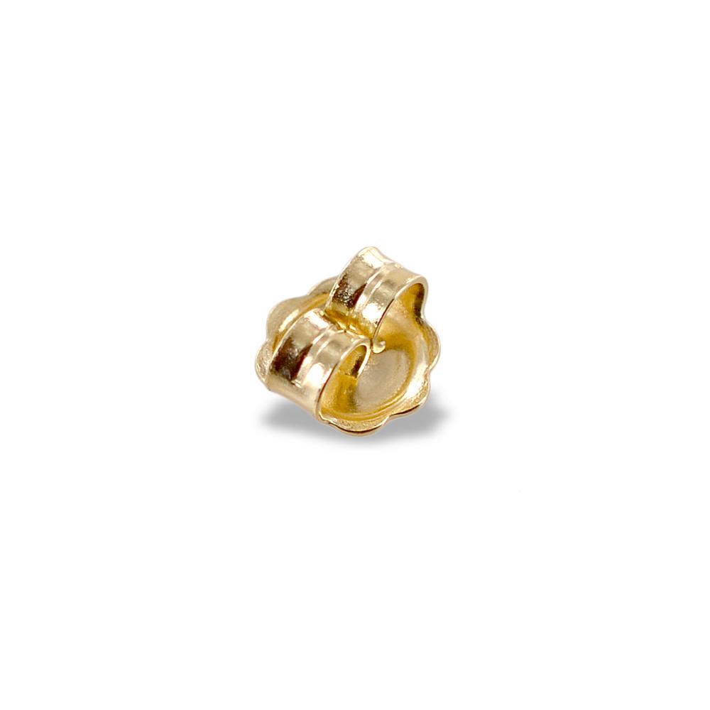Farfallina chiusura di ricambio in oro giallo per orecchini grande