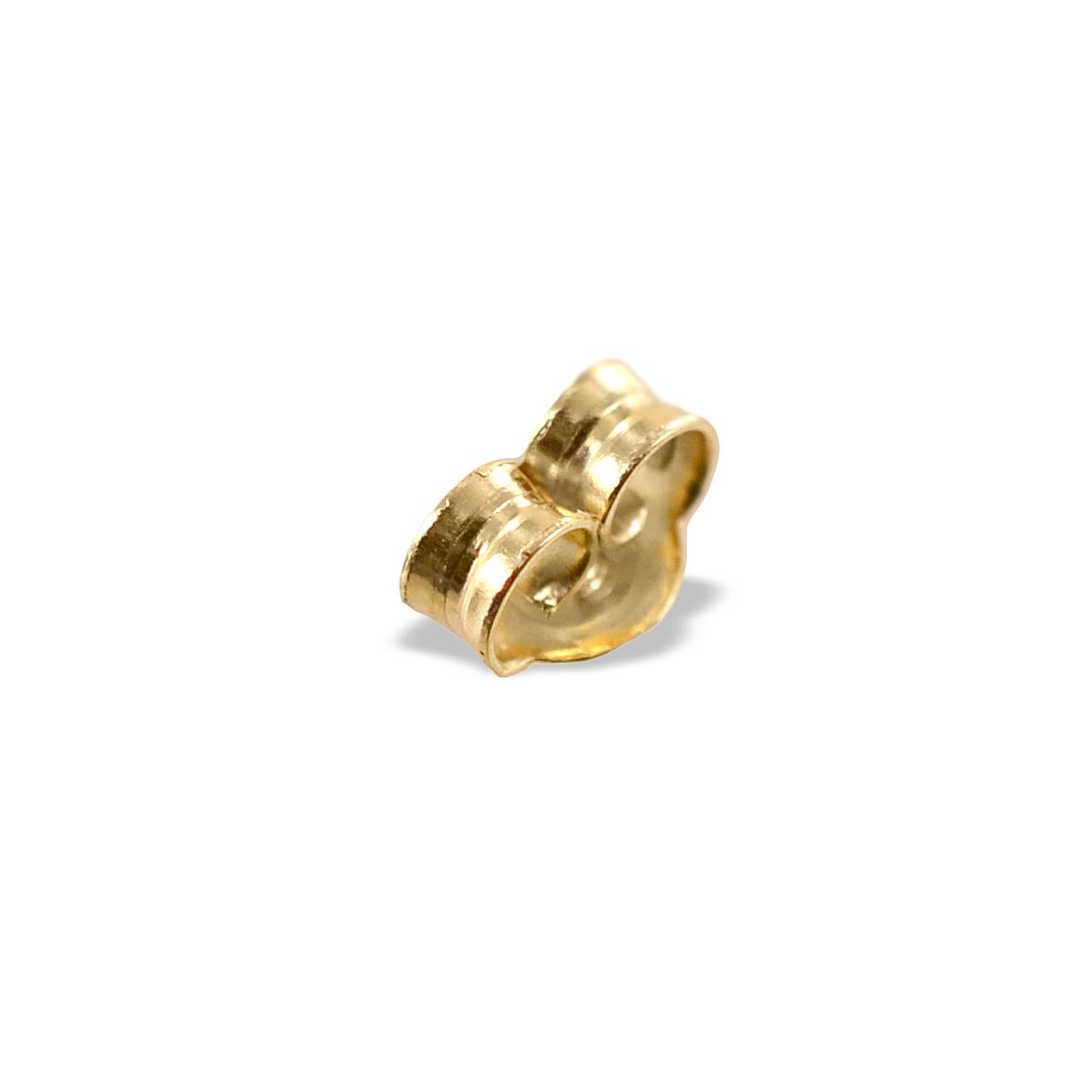 Farfallina chiusura di ricambio in oro giallo per orecchini piccola