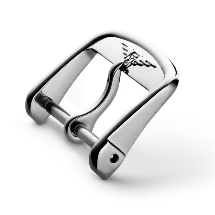 Fibbia per cinturino Longines in acciaio misura 16 mm
