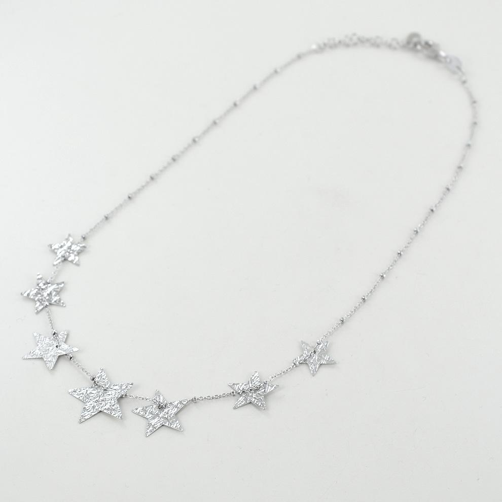 Girocollo con stelle in argento collezione Shiny