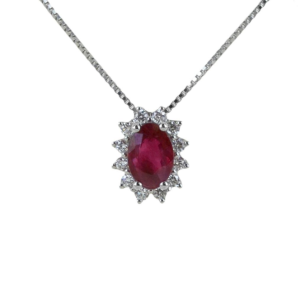 Girocollo Rubino e Rosetta diamanti modello Maharaja Gioielli Raaja