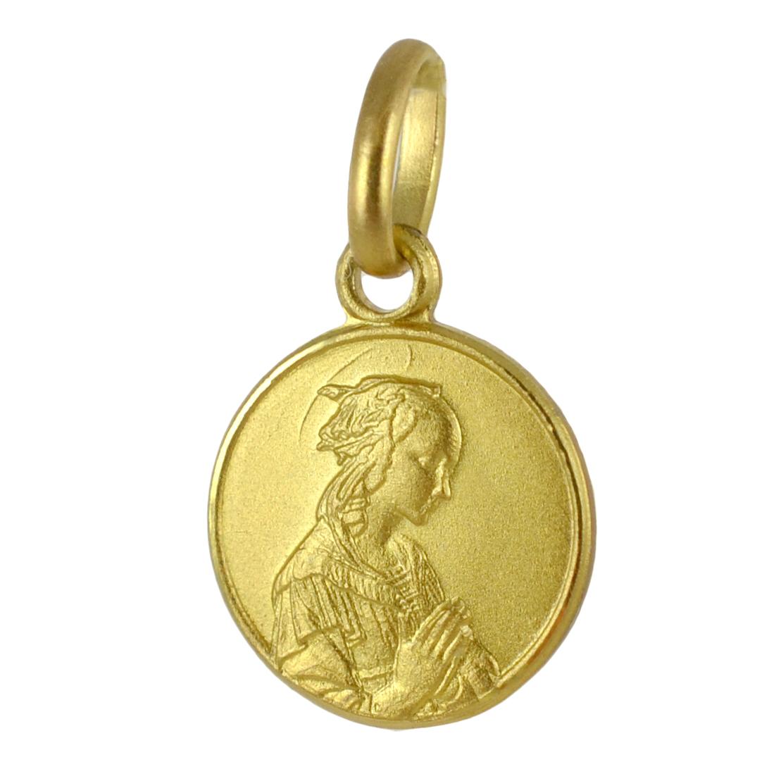 Medaglia in oro giallo Madonna del Lippi 10 mm