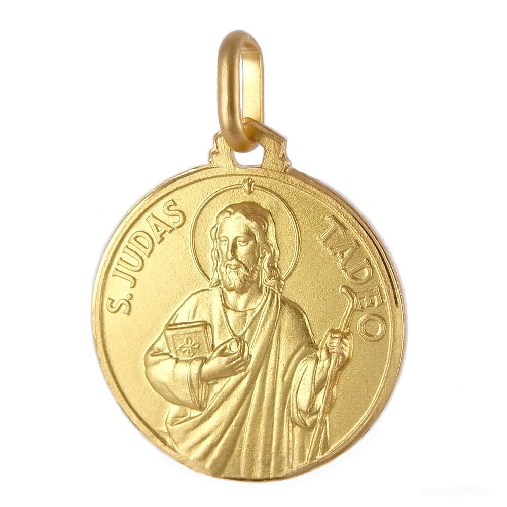 Medaglia in oro giallo San Giuda Taddeo 21 mm