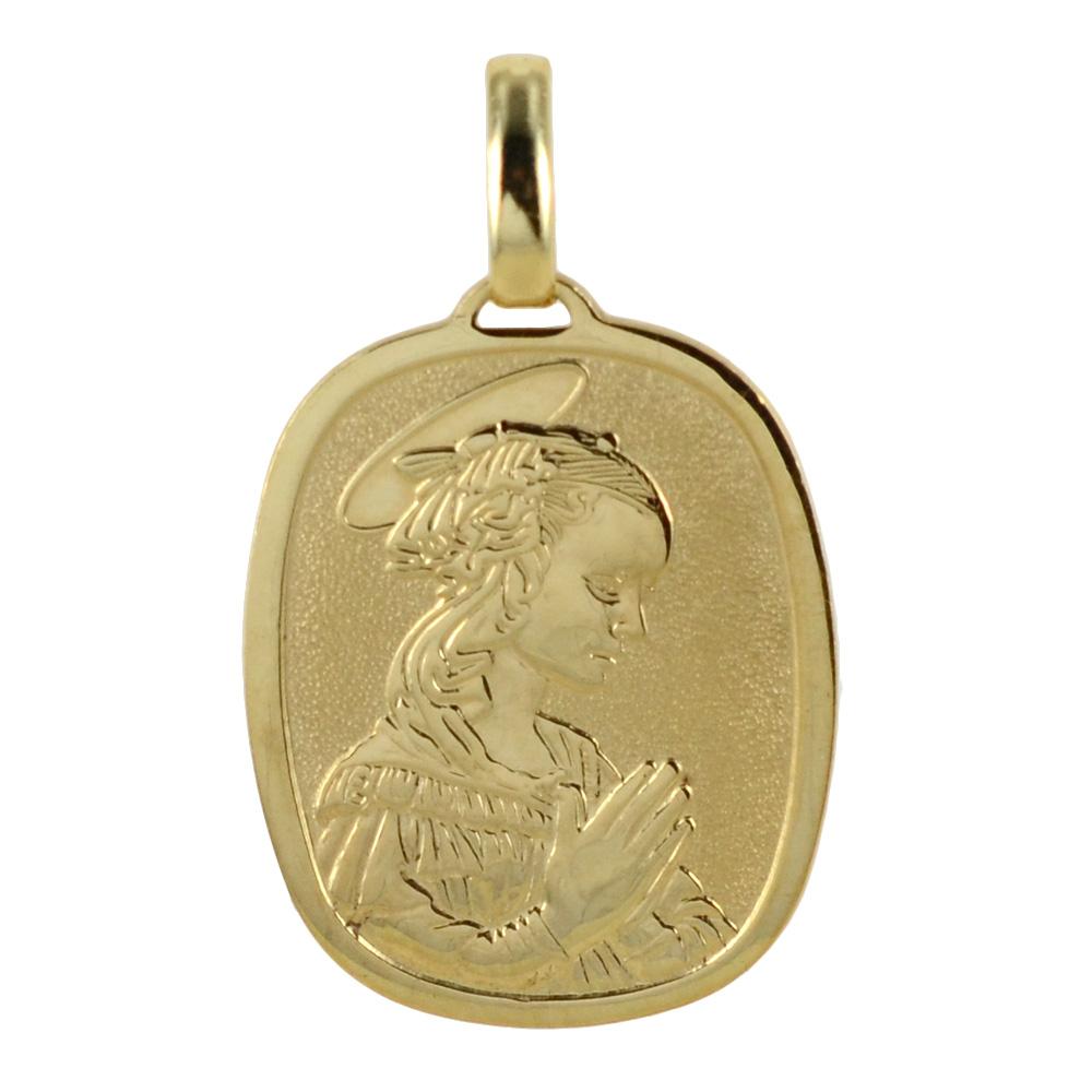 Medaglia Madonna del Lippi in oro giallo 18 kt