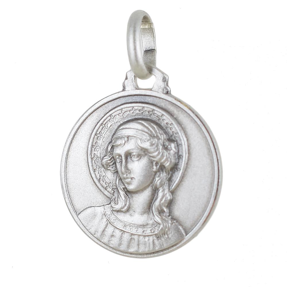 Medaglia san Gabriele Arcangelo in argento 16 mm