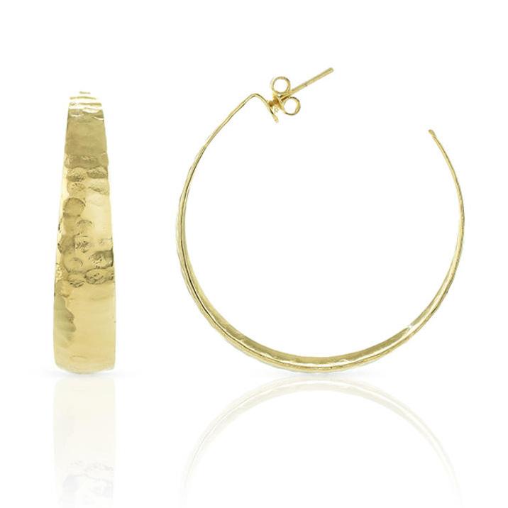 Orecchini a cerchio grande Unoaerre in bronzo Giallo colore oro
