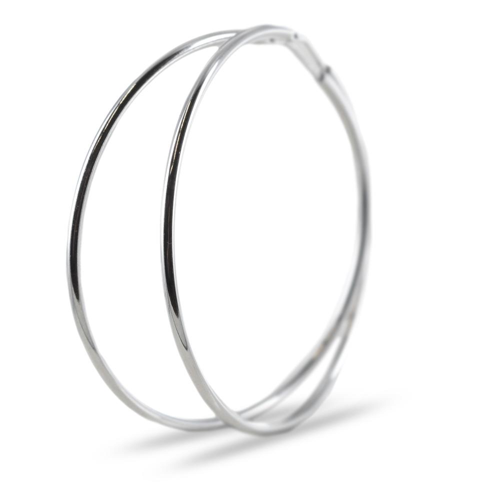 Orecchini a cerchio in argento 50 mm orecchini campanella