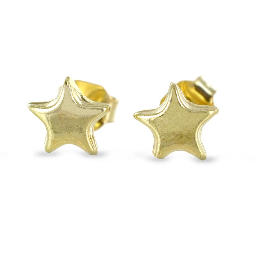 Orecchini a stella media in oro giallo