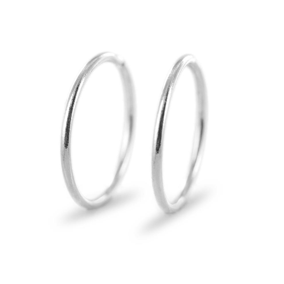 orecchini a cerchio piccoli oro bianco
