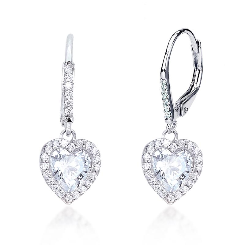 8ea99f6cd0fc57 Orecchini Mabina a cuore in argento e zirconi 563131 - Bigiotteria ...