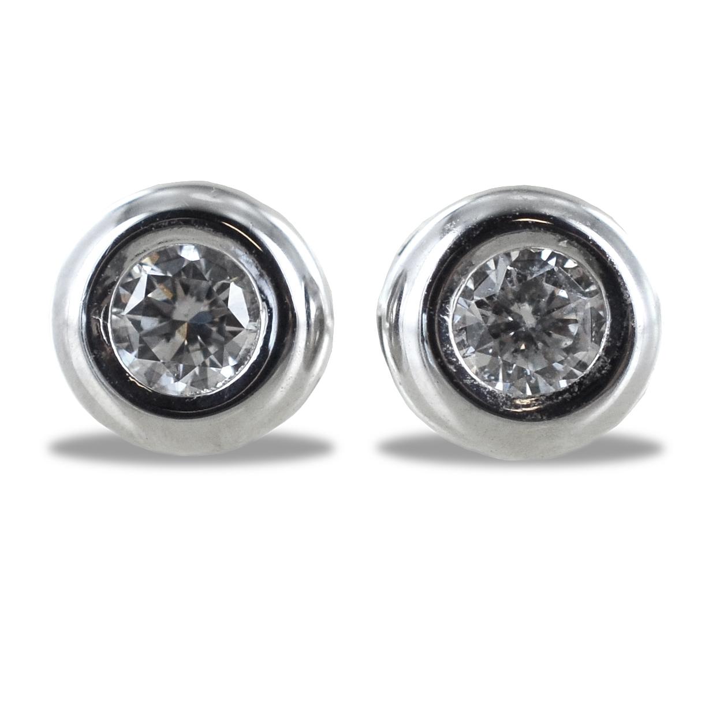Orecchini Punto Luce Cipollina grande con diamanti ct. 0.16 G VS