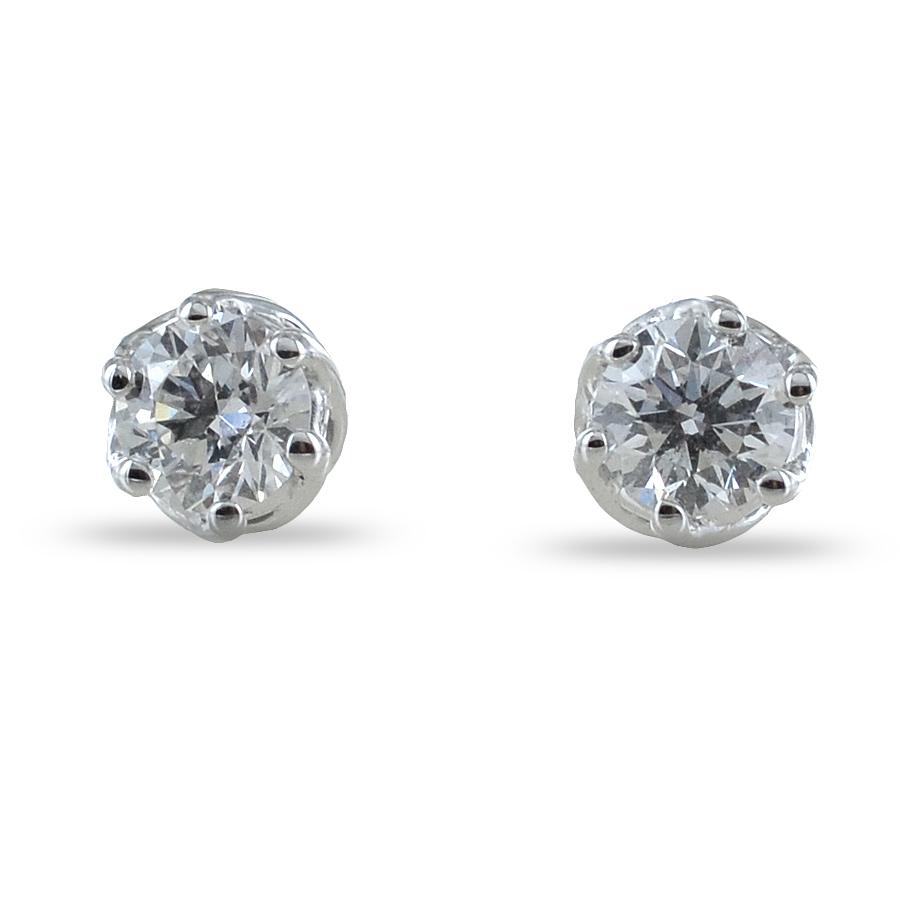 orecchini punto luce Medio con diamanti 0.28 ct Salvini gioielli collezione Lavinia