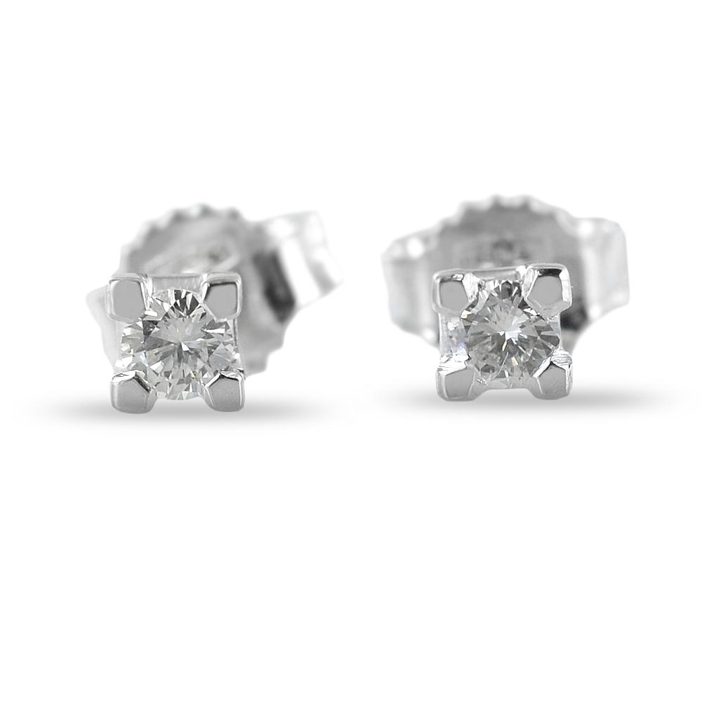 Orecchini punto luce con diamanti carati 0.15 G