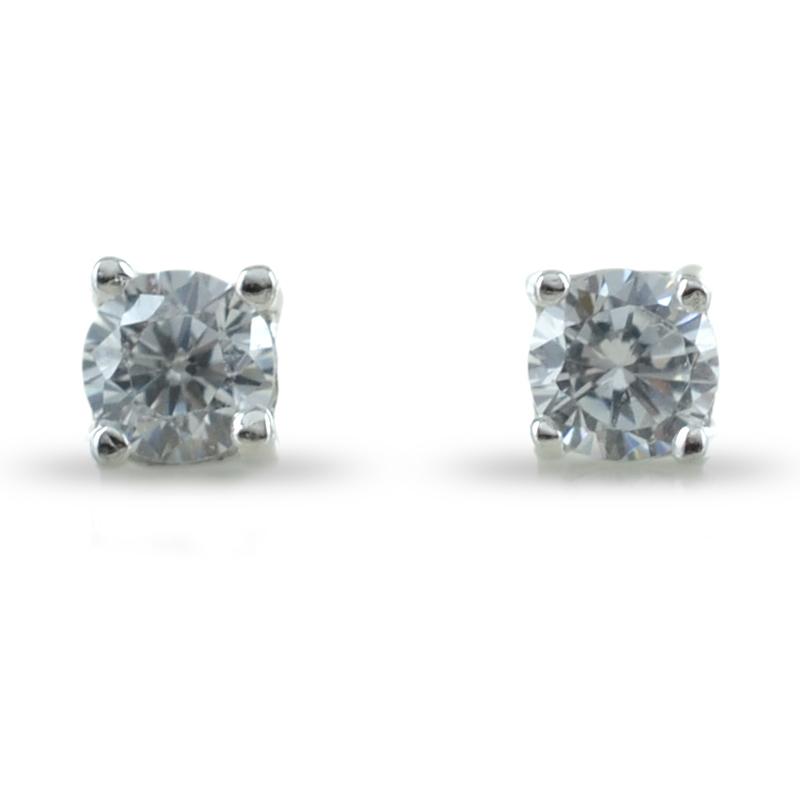 5068657b2ce002 Orecchini punto luce in argento con zirconi 3 mm | Gioielloro.it ...