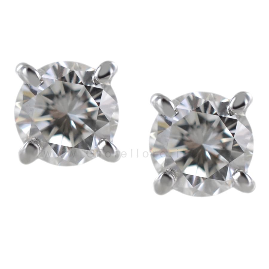 Orecchini Punto Luce in oro e diamanti 0.60 F VS
