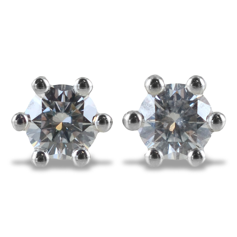 Orecchini Punto Luce Medio con diamanti ct. 0.21 G VS