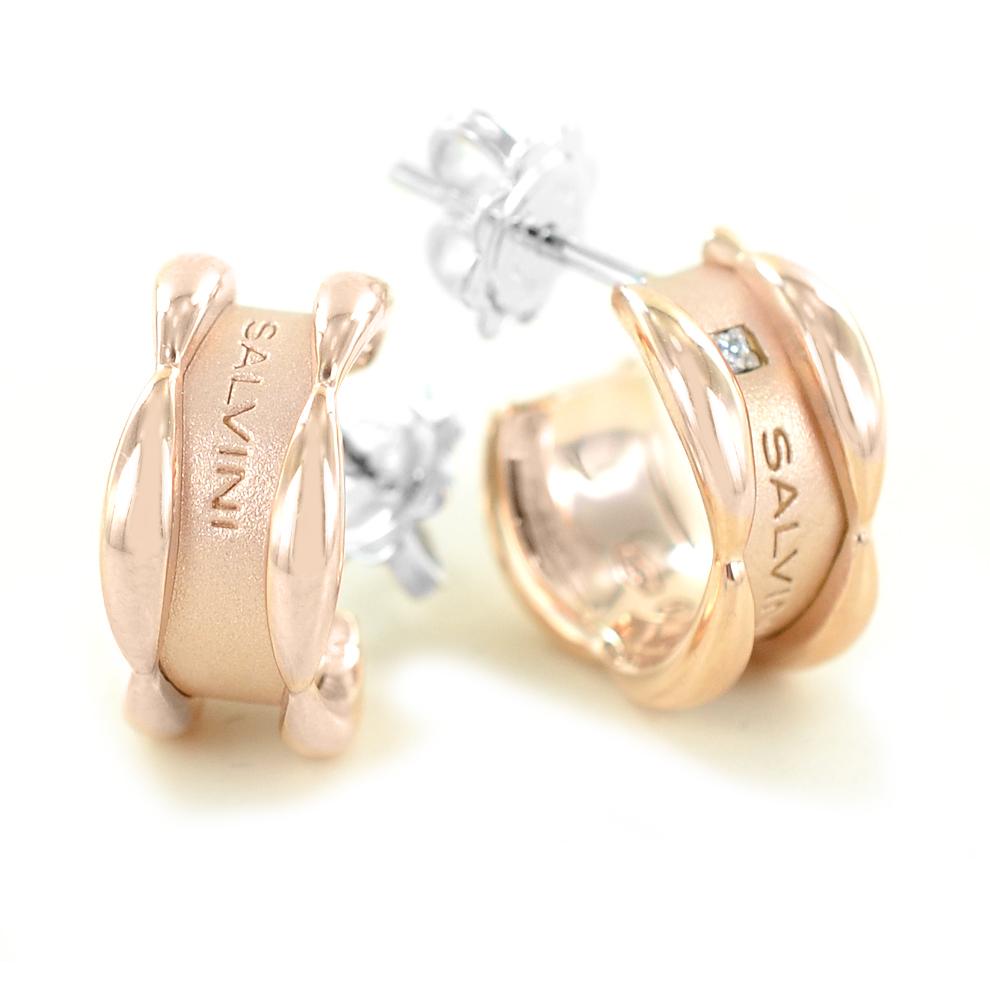 Orecchini Salvini collezione Sunny con diamanti in oro rosa