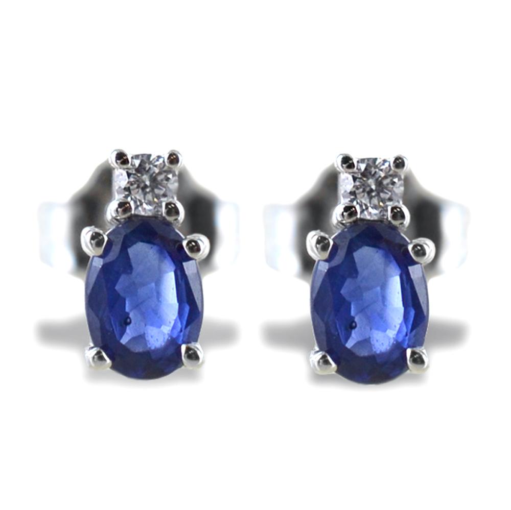 Orecchini Zaffiro e Diamante piccolo collezione Kesar Gioielli Raaja