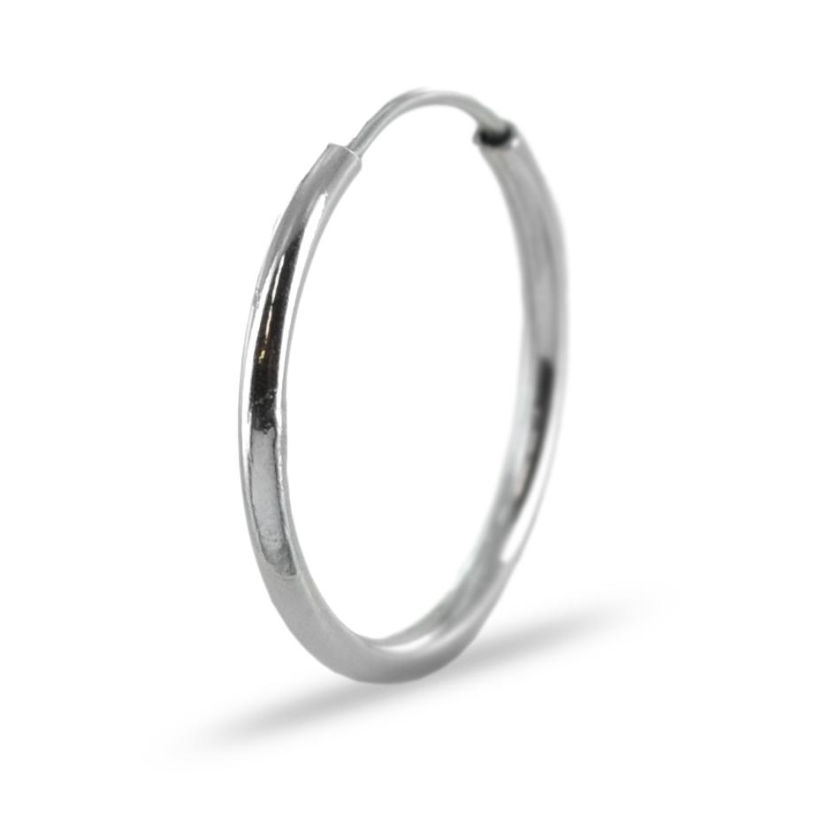design professionale ultimo di vendita caldo stati Uniti Orecchino a cerchio da uomo campanella media in oro bianco ...