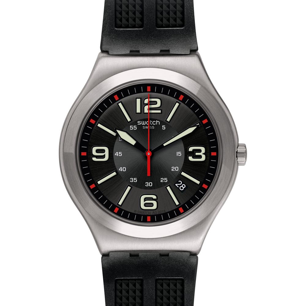 Orologio da Uomo Swatch Black Grid YWS444