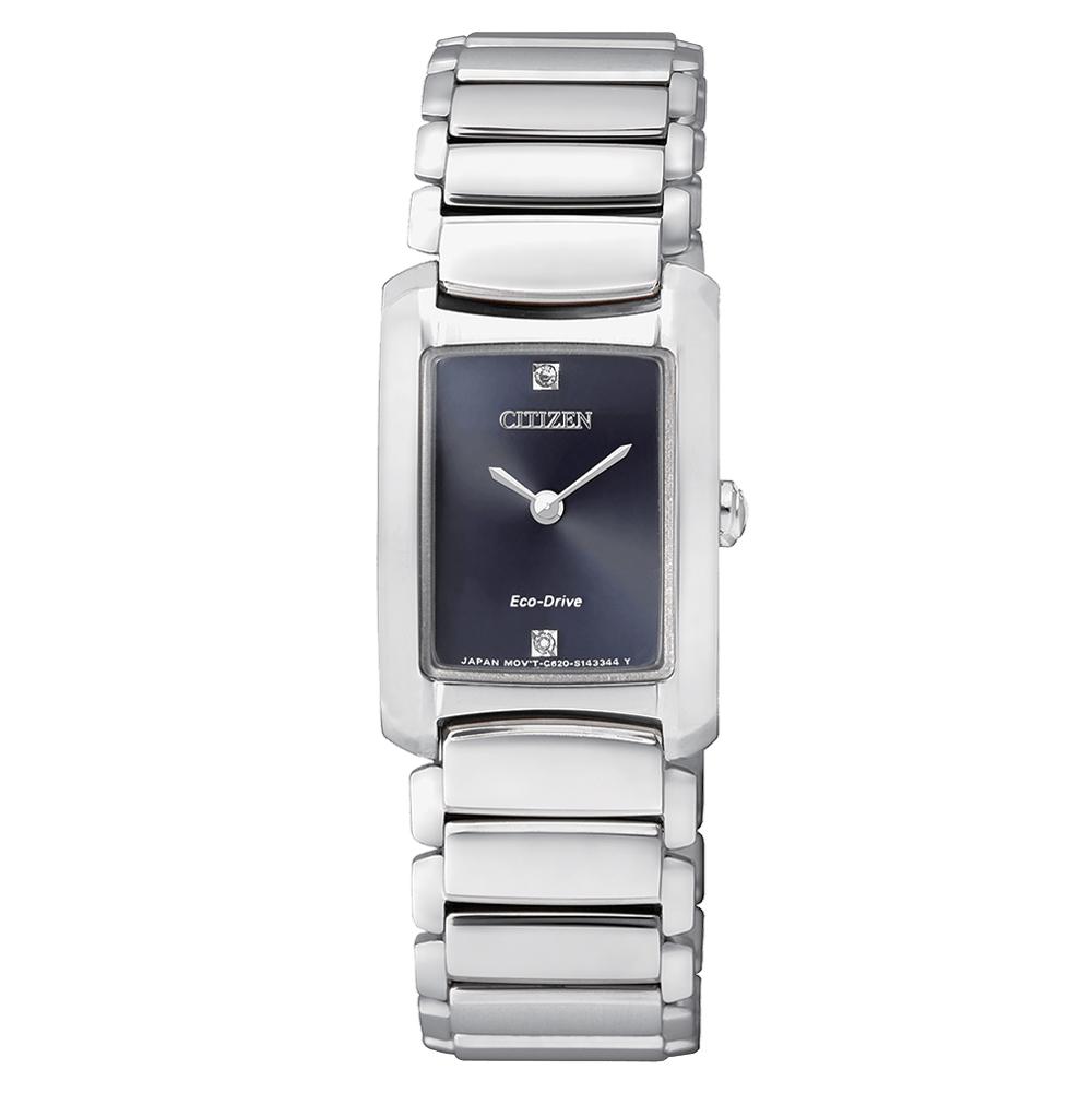 Orologio donna CITIZEN Ecodrive Lady Silver con diamanti EG2970-53L
