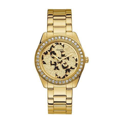 Orologio Guess da Donna dorato Logo Guess Leopardato W1201L2