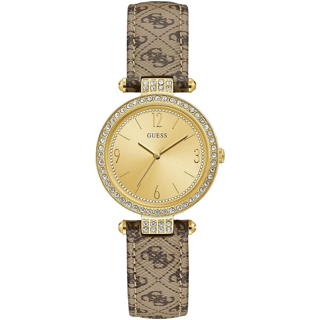Orologio Guess da Donna dorato logo sul cinturino W1230L2