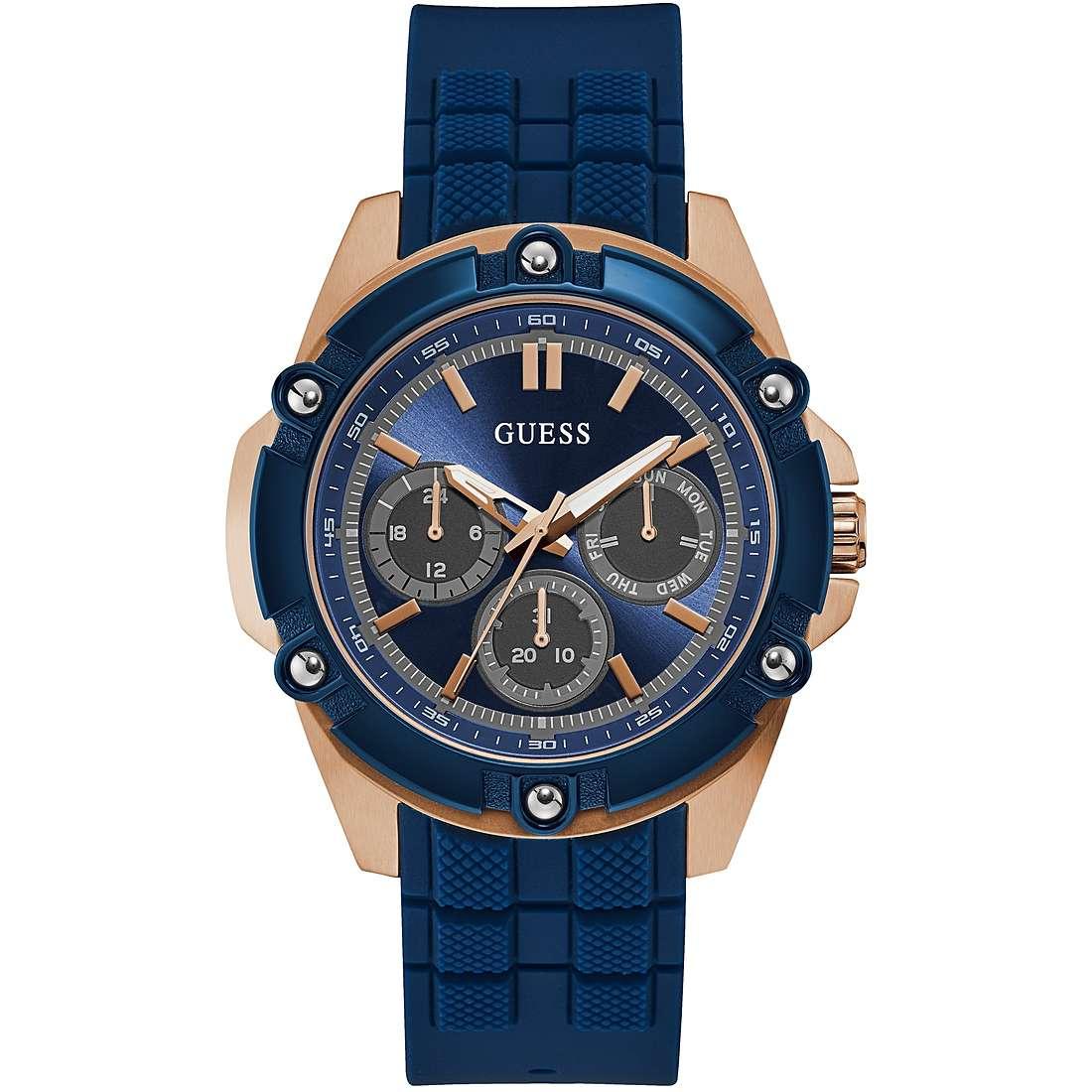 Orologio Guess da Uomo Crono Blu sportivo W1302G4