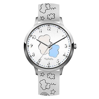 Orologio Nanan da bambini in silicone bianco con orsetto NOR0003