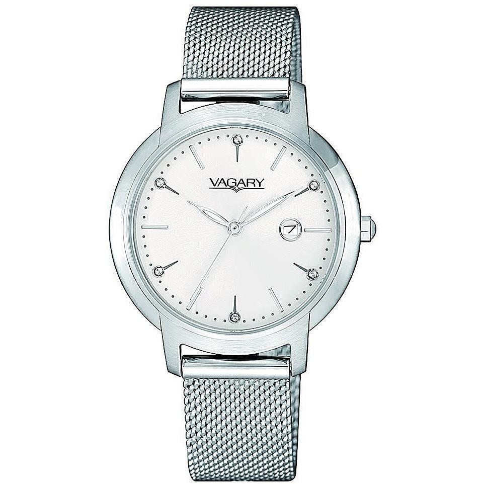 Orologio Vagary da donna bianco con cristalli al quarzo IU1-913-11