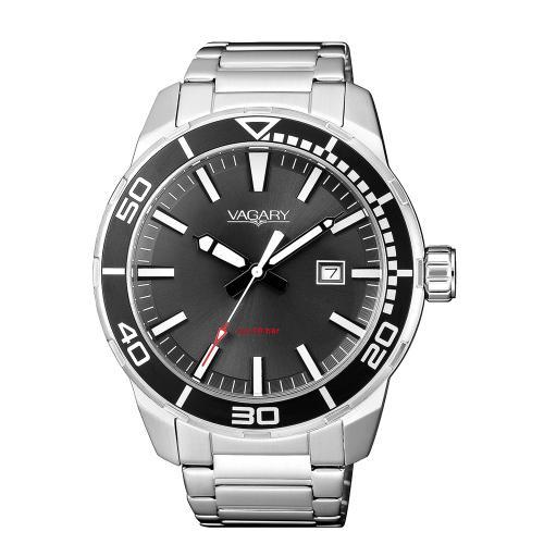 Orologio Vagary da uomo acciaio nero IB8-011-61