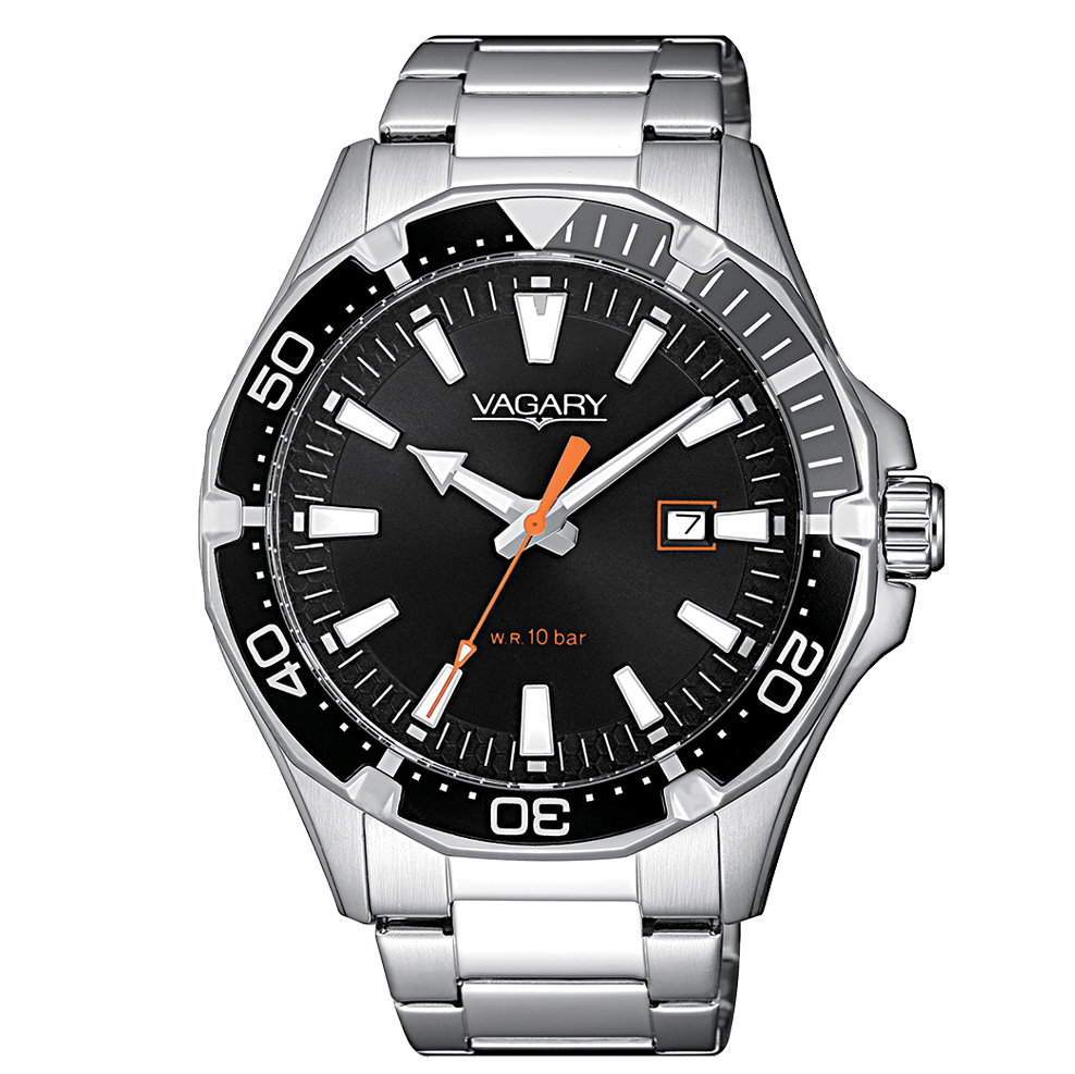 Orologio Vagary da uomo acciaio nero IB8-411-51