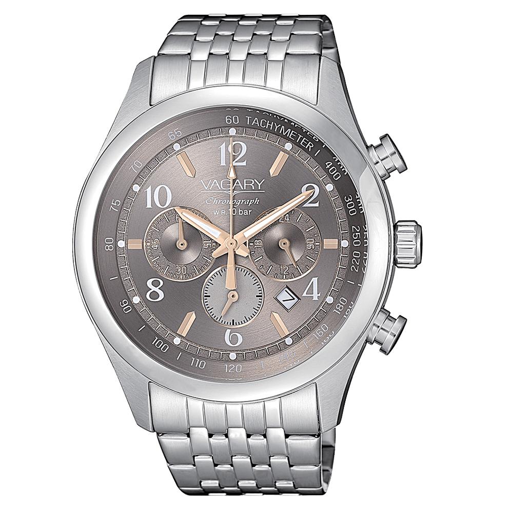 Orologio Vagary da uomo silver acciaio crono IV4-217-61