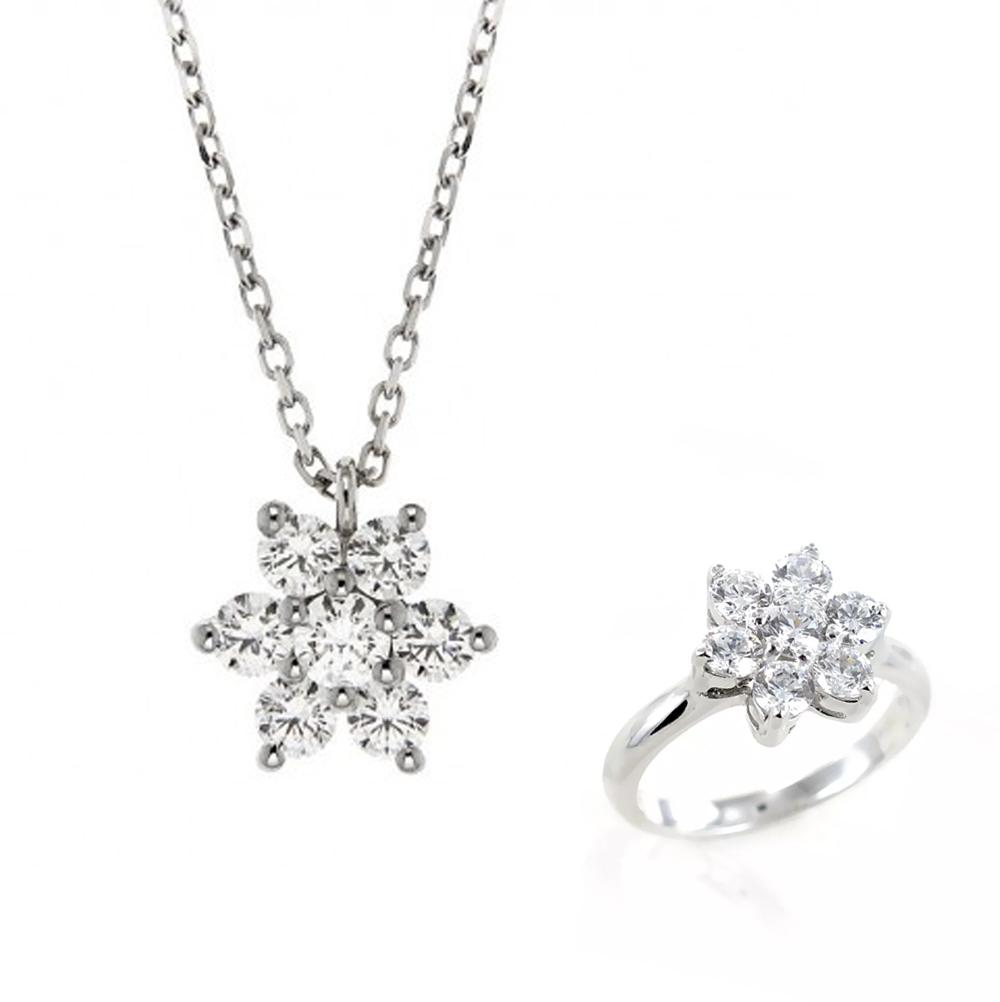 Parure Gioielli Orsini stella in argento e zirconi bianchi