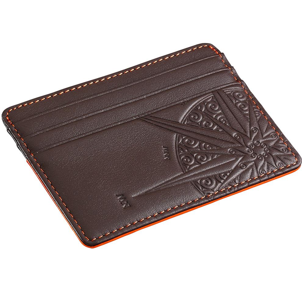 e9ebf2876c Porta carte di credito porta banconote da uomo Zancan arancio HPL 033