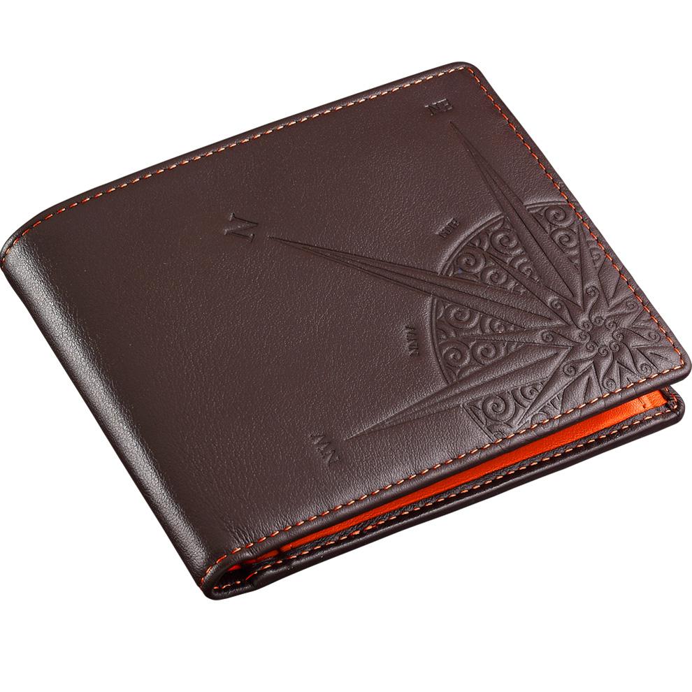 548de6b38b Portafoglio da uomo Zancan in vera pelle HPL 024 interno arancione ...