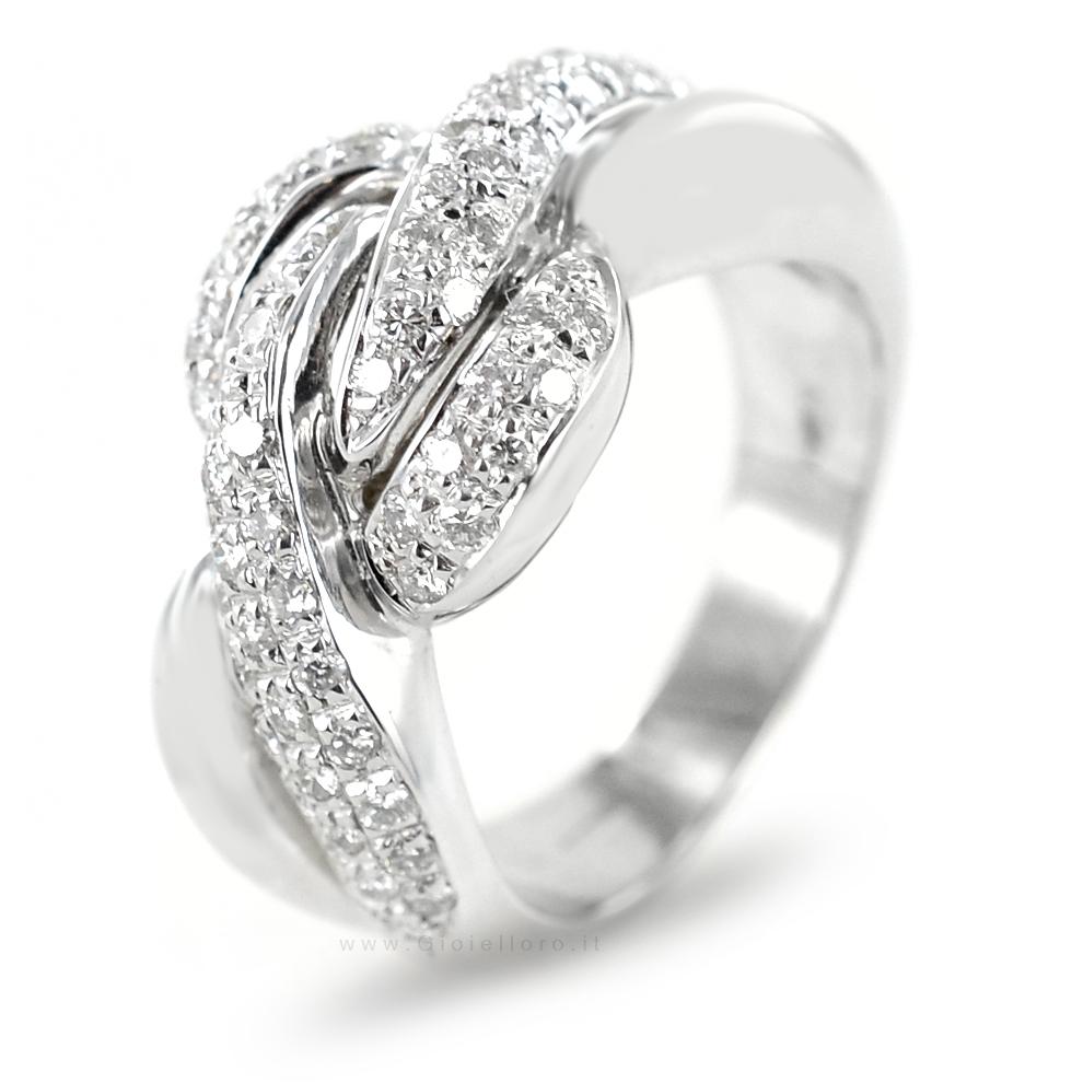 bon out x bébé les ventes en gros Anello Fantasia in oro bianco e diamanti carati 0.74 ...