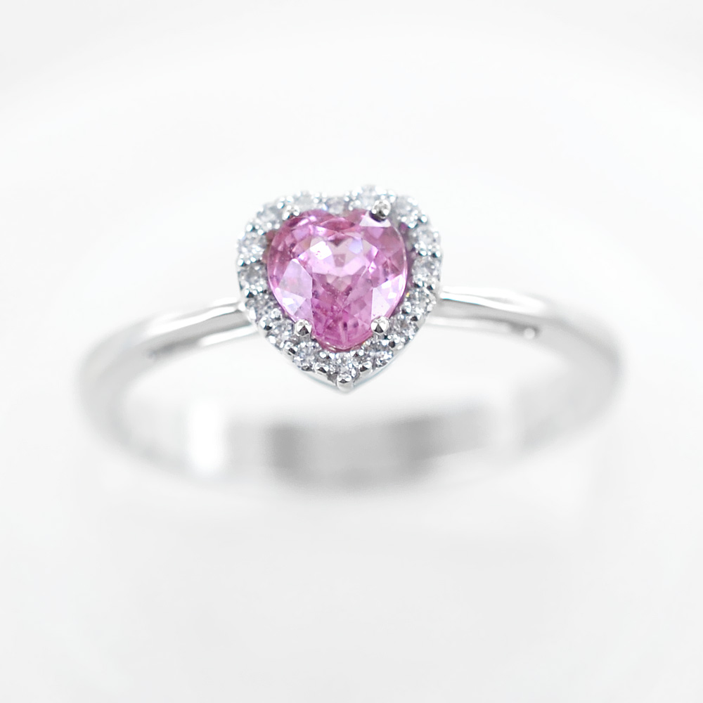 abbastanza Anello con Zaffiro Rosa Cuore e diamanti | Gioielloro.it - La tua  AE74