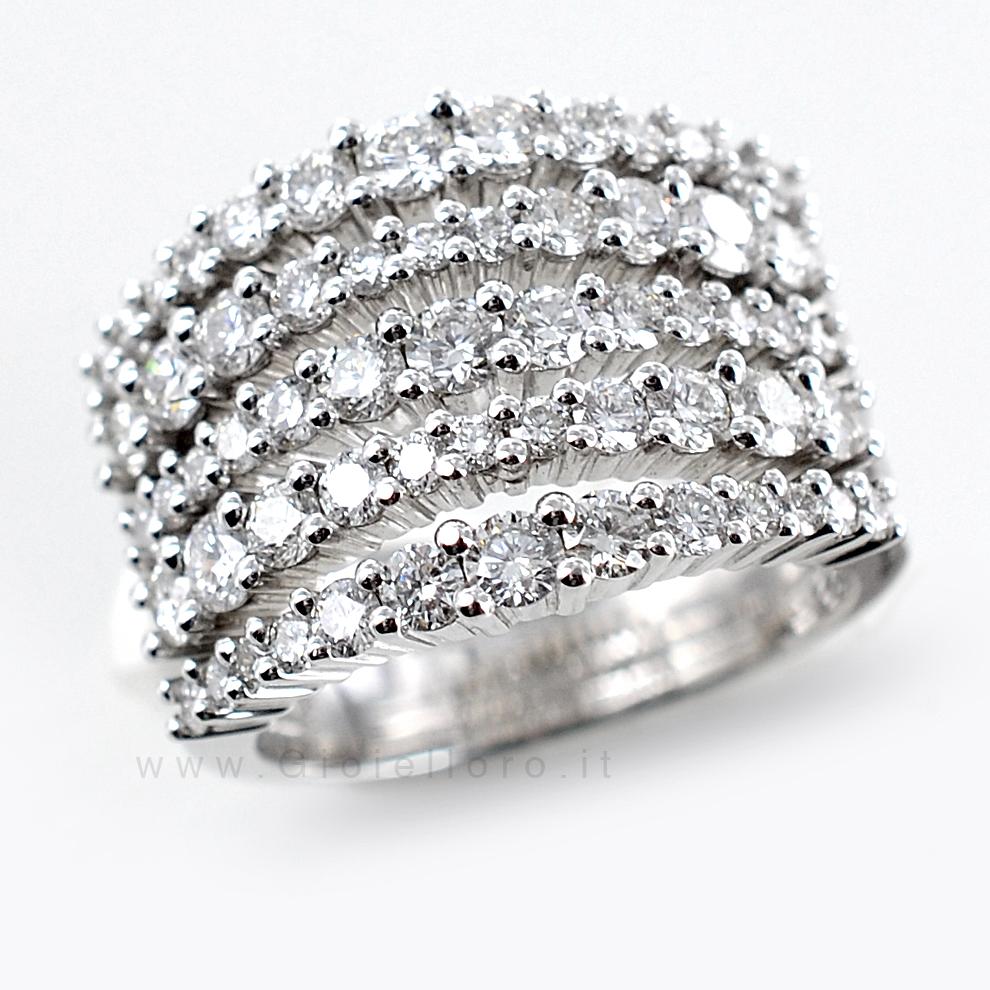 abbastanza Anello fascia Fantasia di Diamanti ct 2.41 G VS | Gioielloro.it  WE56