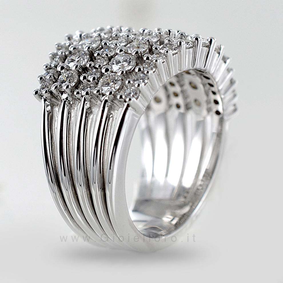 Bien-aimé Anello fascia Fantasia di Diamanti ct 2.41 G VS | Gioielloro.it  BZ32