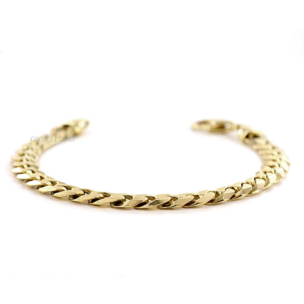 Bracciale catena uomo oro