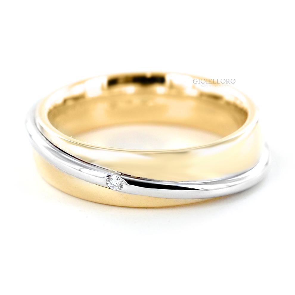acquisto economico 4c34e 157c4 Fede Unoaerre Saturno collezione Fedi 9.0 in oro giallo e ...