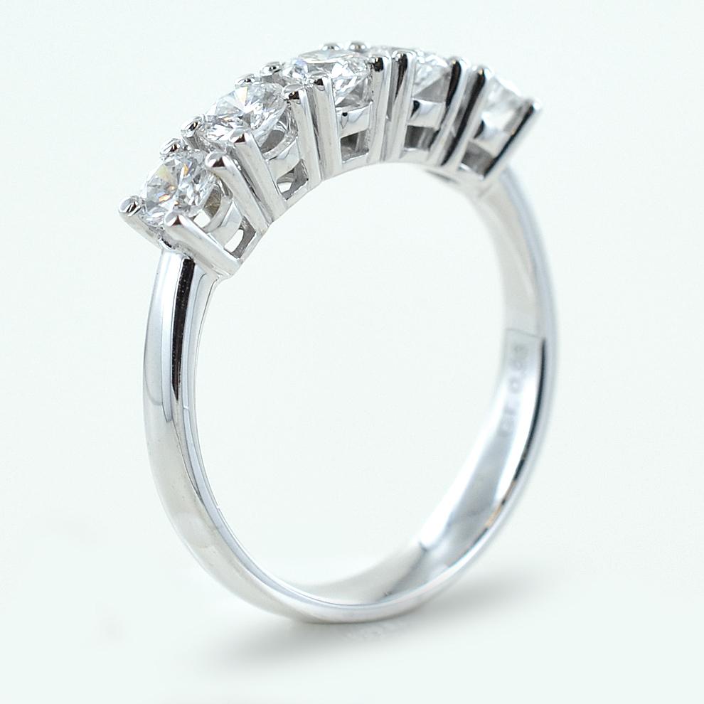 acquistare nuovi stili come ottenere Anello riviera a 5 diamanti ct 0.95 G VVS | Gioielloro.it ...